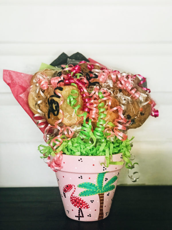 Pink Flamingo Cookie Bouquet from Kookie Krums