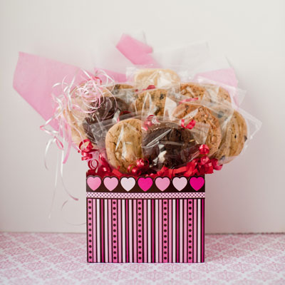 Valentine Box Cookie Bouquet