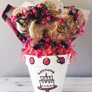 Birthday Cake Pot Cookie Bouquet from Kookie Krums
