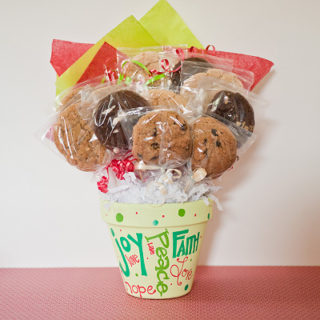 Joy, Peace, Hope cookie bouquet