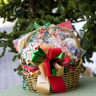 Gold Basket Cookie Bouquet