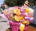 Spring Flowers Cookie Basket