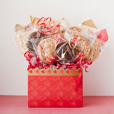 Red Heart Valentine's Cookie Box