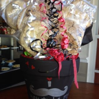 mustache cookie bouquet Valentine's Day