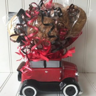 Ceramic Antique Car Cookie Bouquet