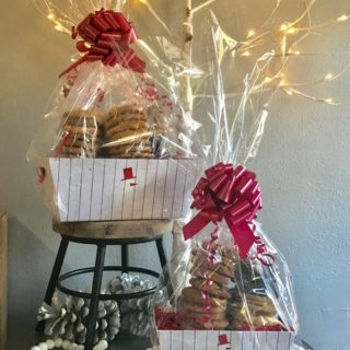 Rustic Snowman Cookie Gift Box