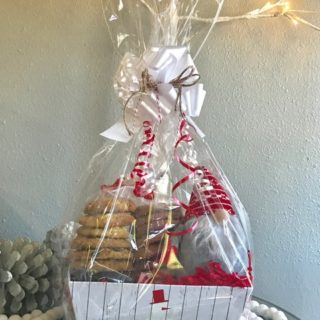 Rustic Snowman Box with Gnome Cookie Gift