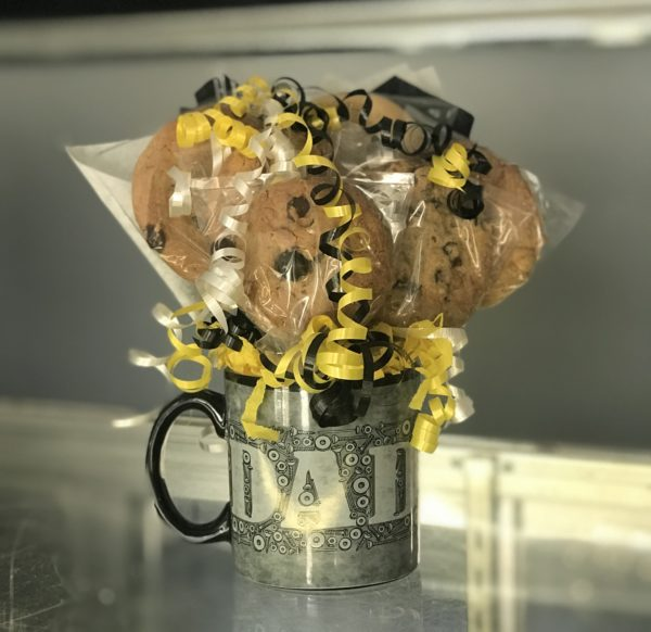 Father's Day Cookie Mug Bouquet by Kookie Krums